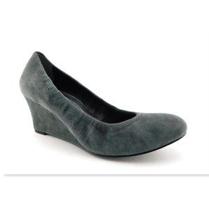 VIONIC Gray Suede Leather Wedge Heels 9.5 Wide